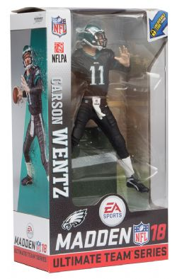 EAGLES DE PHILADELPHIE -  CARSON WENTZ #11 - COLOR RUSH (15CM) -  MADDEN NFL 18 ULTIMATE TEAM SERIES 1