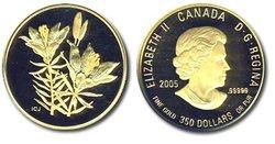 EMBLÈMES FLORAUX DU CANADA -  LE LIS ROUGE ORANGE DE LA SASKATCHEWAN -  PIÈCES DU CANADA 2005 08
