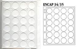 ENCAP -  FEUILLES RIGIDES POUR 30 PIÈCES DE 34-35 MM EN CAPSULES (PAQUET DE 2)