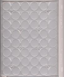 ENCAP -  FEUILLES RIGIDES POUR 48 PIÈCES DE 24-25 MM EN CAPSULES (PAQUET DE 2)