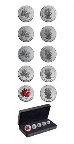 ENSEMBLES DIVISIONNAIRES -  LA FEUILLE D'ÉRABLE: - Ô CANADA - ENSEMBLE DE CINQ PIÈCES -  PIÈCES DU CANADA 2020 09