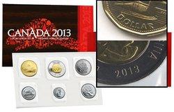 ENSEMBLES HORS-CIRCULATION -  ENSEMBLE HORS-CIRCULATION 2013 - DOUBLE FRAPPE SUR LE 1 ET 2 DOLLARS -  PIÈCES DU CANADA 2013 75