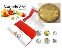 ENSEMBLES HORS-CIRCULATION -  ENSEMBLE HORS-CIRCULATION 2016 AVEC LA PIÈCE DE 1 DOLLAR 2015 -  PIÈCES DU CANADA 2016