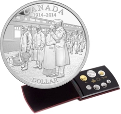 ENSEMBLES NUMISMATIQUES -  100E ANNIVERSAIRE DE LA DÉCLARATION DE LA PREMIÈRE GUERRE MONDIALE -  PIÈCES DU CANADA 2014 44