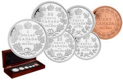 ENSEMBLES NUMISMATIQUES -  100E ANNIVERSAIRE DU DOLLAR CANADIEN DE 1911 - ÉDITION SPÉCIALE -  PIÈCES DU CANADA 2011