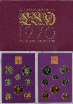 ENSEMBLES NUMISMATIQUES -  ENSEMBLE NUMISMATIQUE 1970 -  PIÈCES DE LA GRANDE-BRETAGNE ET DE L'IRLANDE DU NORD 1970