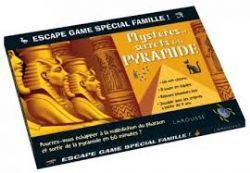 ESCAPE GAME -  MYSTÈRES ET SECRETS DE LA PYRAMIDE -  SPÉCIAL FAMILLE