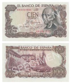 ESPAGNE -  100 PESETAS 1970 (UNC)