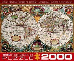 EUROGRAPHICS -  CARTE DU MONDE ANTIQUE (2000 PIECES)