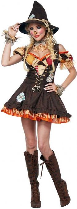 EYE CANDY -  COSTUME COQUIN D'ÉPOUVANTAIL (ADULTE LARGE 10-12)