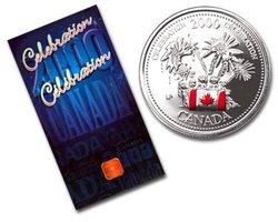 FÊTE DU CANADA -  CÉLÉBRATION -  PIÈCES DU CANADA 2000 01