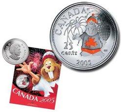 FÊTE DU CANADA -  LE CASTOR, SYMBOLE CANADIEN -  PIÈCES DU CANADA 2005 07