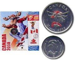 FÊTE DU CANADA -  PIÈCE COLORÉE DE LA FÊTE DU CANADA 2008 -  PIÈCES DU CANADA 2008 10