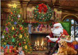 FALCON DE LUXE -  SANTA BY THE CHRISTMAS TREE (500 PIÈCES)