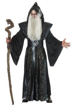 FANTAISIE -  COSTUME DE MAGICIEN OBSCURE (ADULTE)