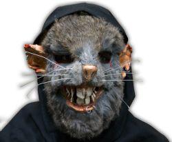 FANTASTIQUE -  MASQUE AVEC FILET HOMME-RAT DE LUXE (BRUN)