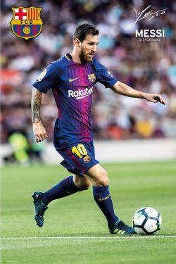FC BARCELONE -  AFFICHE DE LIONEL MESSI 2017-18