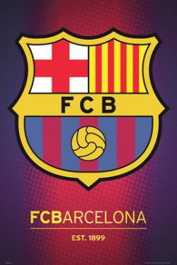FC BARCELONE -  AFFICHE LOGO (56 CM X 86.5 CM)