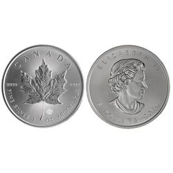 FEUILLES D'ÉRABLE -  PIÈCE D'UNE ONCE EN ARGENT PUR -  PIÈCES DU CANADA 2015
