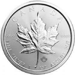 FEUILLES D'ÉRABLE -  PIÈCE D'UNE ONCE EN ARGENT PUR -  PIÈCES DU CANADA 2019