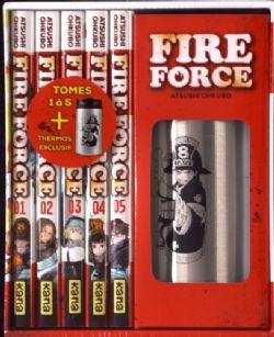 FIRE FORCE -  COFFRET TOME 1 À 5 AVEC UN THERMOS EXCLUSIF (V.F.)