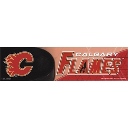 FLAMES DE CALGARY -  AUTOCOLLANT DE PARE-CHOC