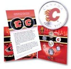 FLAMES DE CALGARY -  ENSEMBLE CADEAU DES FLAMES DE CALGARY -  PIÈCES DU CANADA 2007