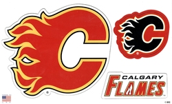 FLAMES DE CALGARY -  ENSEMBLE D'AIMANTS