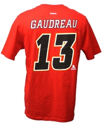 FLAMES DE CALGARY -  T-SHIRT JOHN GAUDREAU #13 ROUGE (ADOLESCENT)