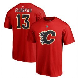 FLAMES DE CALGARY -  T-SHIRT JOHNNY GAUDREAU #13 - ROUGE