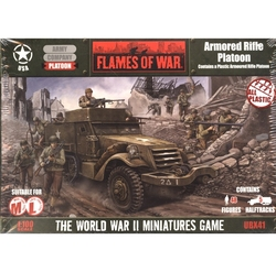 FLAMES OF WAR -  ARMORED RIFLE PLATOON (PLASTIC) -  AMERICAIN