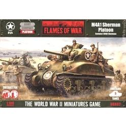 FLAMES OF WAR -  M4A1 SHERMAN PLATOON (5) -  AMERICAIN