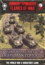 FLAMES OF WAR -  M5A1 STUART LIGHT TANK PLATOON (5) -  AMERICAIN