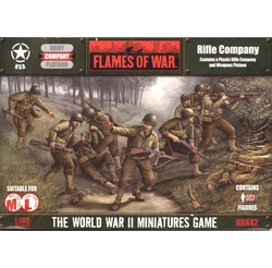 FLAMES OF WAR -  RIFLE COMPANY (PLASTIC) -  AMERICAIN