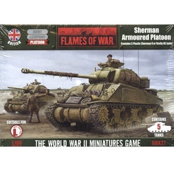 FLAMES OF WAR -  SHERMAN V ARMOURED PLATOON (5) (PLASTIC) -  BRITANNIQUE