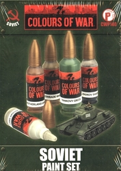 FLAMES OF WAR -  SOVIET PAINT SET -  SOVIETIQUE
