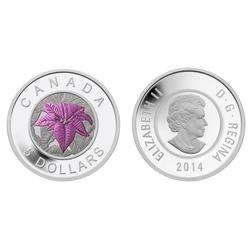 FLEURS POPULAIRES AU CANADA -  LE POINSETTIA -  PIÈCES DU CANADA 2014 03