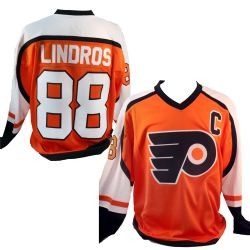FLYERS DE PHILADELPHIE -  CHANDAIL RÉPLIQUE HÉRITAGE ÉRIC LINDROS #88 ORANGE