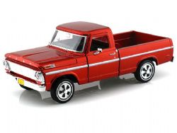 FORD -  1969 FORD F-100 PICKUP 1/24 - ROUGE