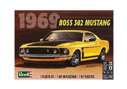 FORD -  BOSS 302 MUSTANG, 1969 - JAUNE, 1/25 (NIVEAU 4)
