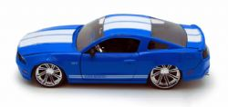 FORD -  MUSTANG GT 2010 1/24 - BLEUE / STRIPES BLANCHES
