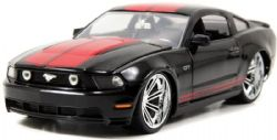FORD -  MUSTANG GT 2010 1/24 - NOIR / STRIPES ROUGES