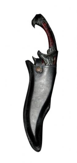 FOURREAUX -  CUIR NOIR - COUTEAU RITUEL (43 CM)