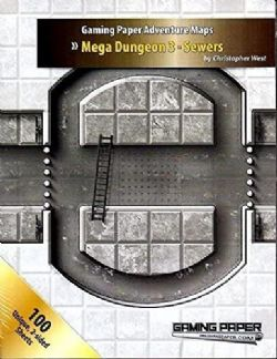 GAMING PAPER ADVENTURE MAPS -  MEGA DUNGEON 3 - SEWERS (ANGLAIS)