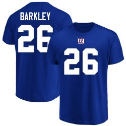 GIANTS DE NEW YORK -  T-SHIRT SAQUON BARKLEY #26 - BLEU (MOYEN)