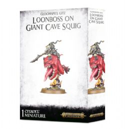 GRAND ALLIANCE DESTRUCTION -  LOONBOSS ON GIANT CAVE SQUIG -  GLOOMSPITE GITZ