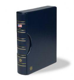 GRANDE -  CARTABLE CLASSIQUE BLEU À 3 ANNEAUX AVEC BOITIER - ÉTATS-UNIS (USA)