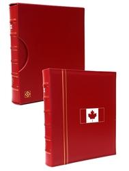 GRANDE -  CARTABLE CLASSIQUE ROUGE À 3 ANNEAUX AVEC BOITIER - 150 ANS DU CANADA