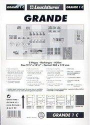 GRANDE -  FEUILLE DE CLASSEMENT CLAIRE, 1 BANDE, PAQUET DE 5 FEUILLES