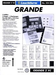 GRANDE -  FEUILLE DE CLASSEMENT CLAIRE, 2 BANDES VERTICALES, PAQUET DE 5